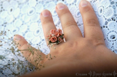 Кольцо Пепельная роза