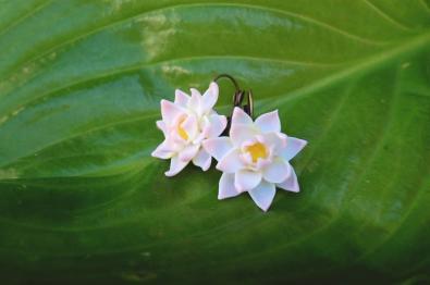 Серьги цветы